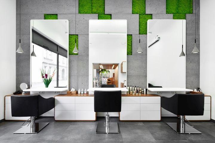 Шикарный дизайн интерьера салона красоты MOSS Salon