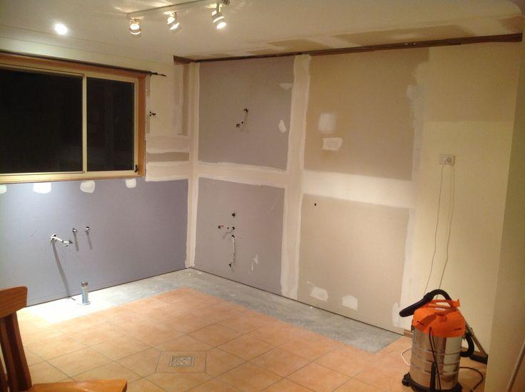 New plasterboard installed