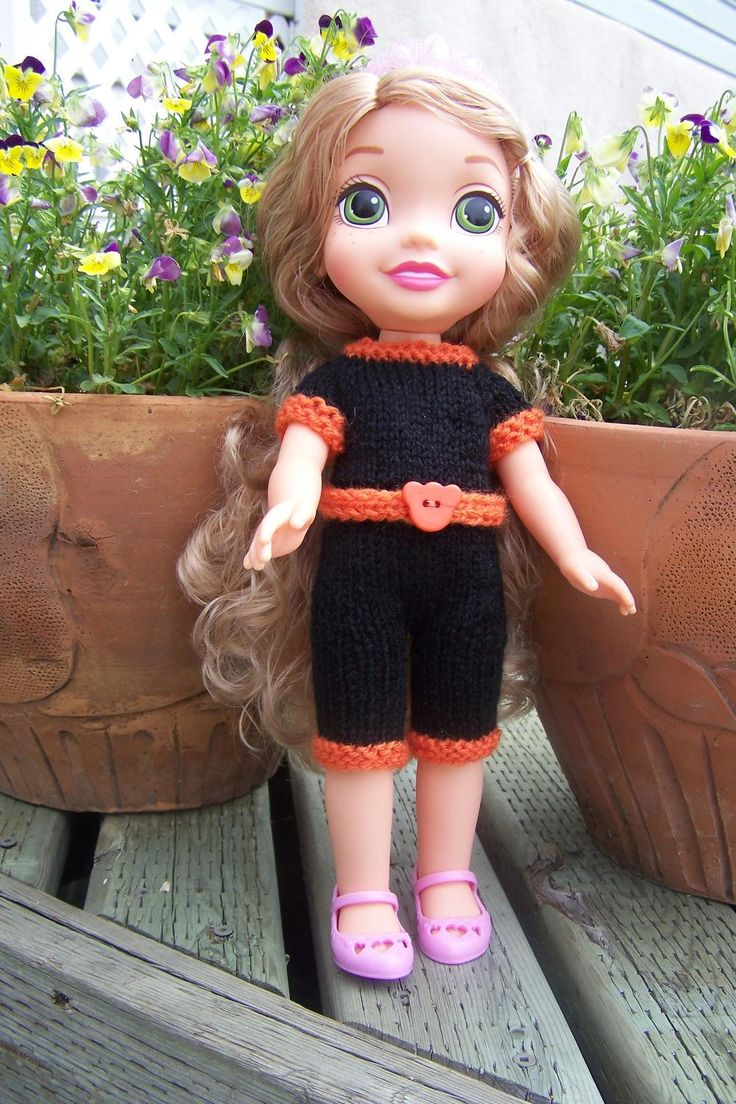"Best Handmade Doll Jumpsuit for sale - A beautiful jumpsuit for 15 ""(35cm) Disney Princess doll with short sleeves, back with buttons close."
