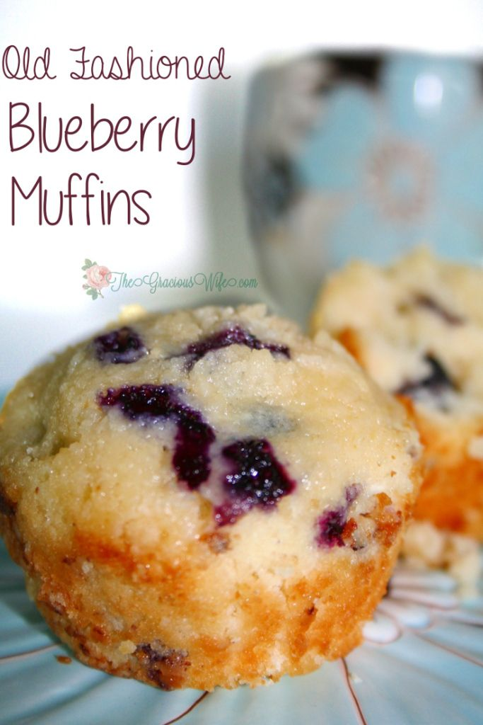 Old-Fashioned Blueberry Muffins- THE BEST. A traditional blueberry muffins recipe, passed down through generations. A treat the whole family will enjoy, and an easy breakfast option.  From TheGraciousWife.com