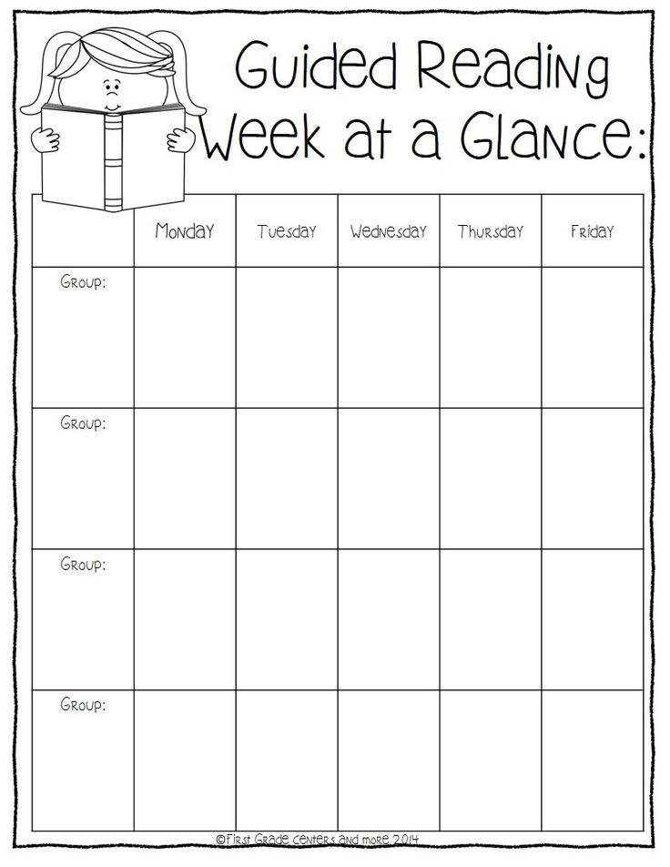 Guided Reading Planning Sheets- freebie