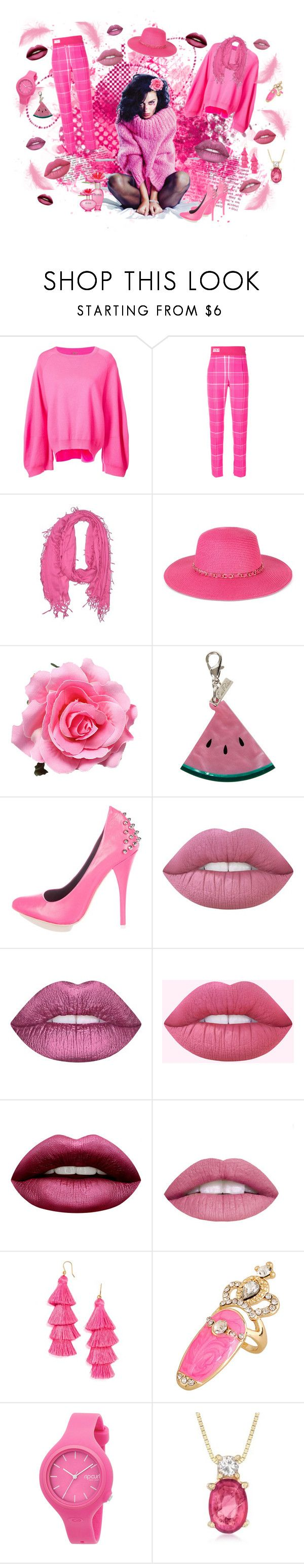 """""""pinky lipsy"""" by marina-hofman-mallander ❤ liked on Polyvore featuring Marc Jacobs, ADAM, Fendi, Natasha, August Hat, Edie Parker, Alexander McQueen, Lime Crime, L.A. Girl and WithChic"""