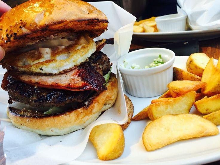 hamburger in Omotesando.