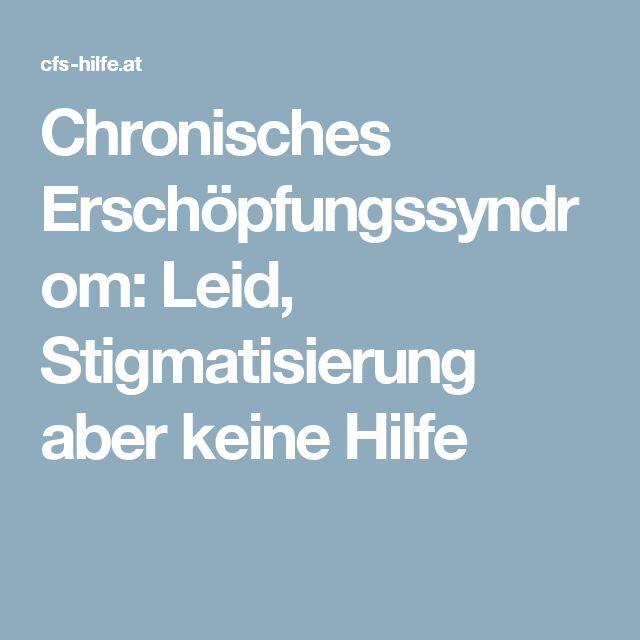 Chronisches Erschöpfungssyndrom: Leid, Stigmatisierung aber keine Hilfe