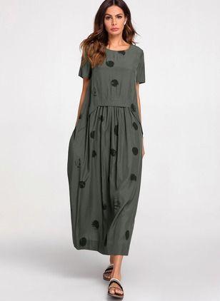 Kleider Informelle Midi Short Sleeve