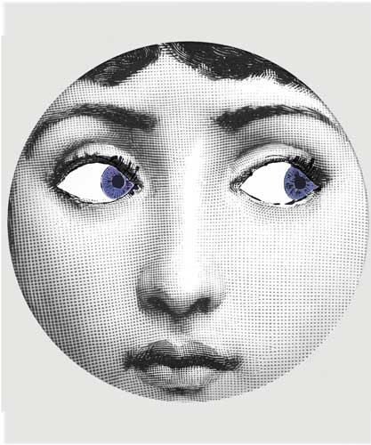 blue eyes Cavalieri melamine plate. Fornasetti ...