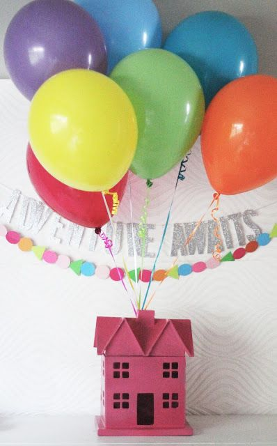 Up themed party, center pieces.  New beggings young womens http://chelseylifeanddesign.blogspot.com/