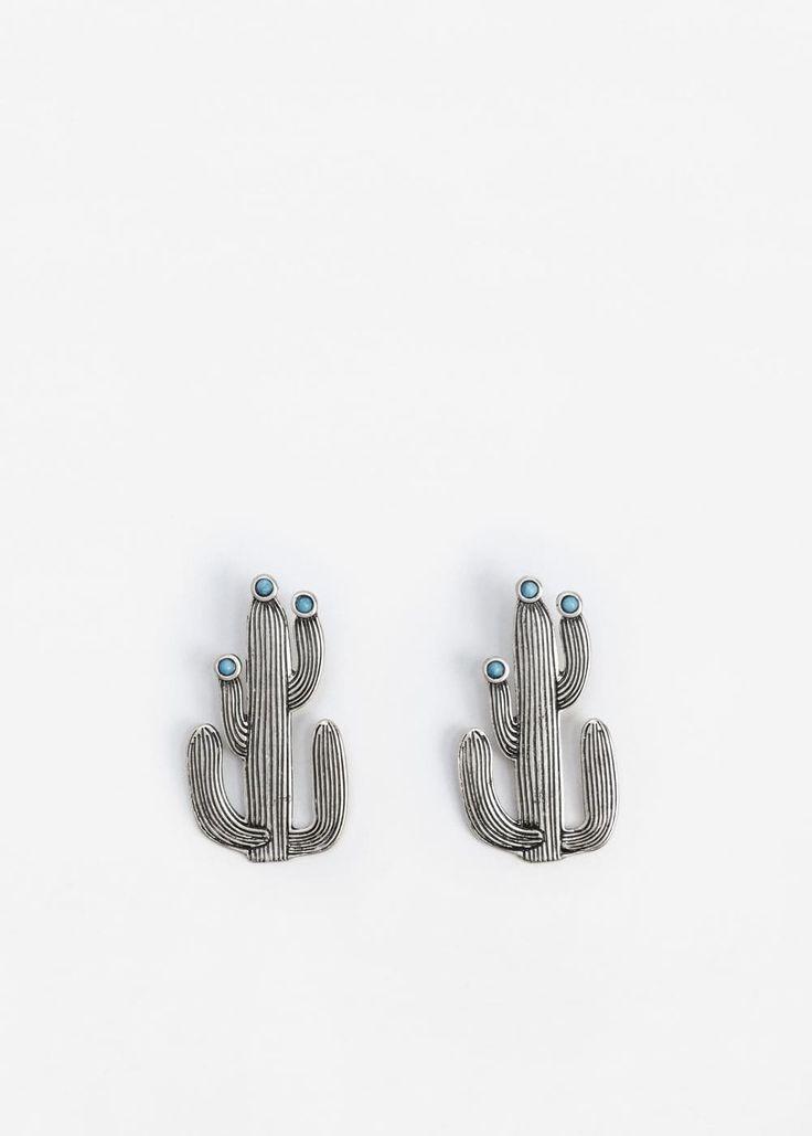 Cactus earrings | MANGO