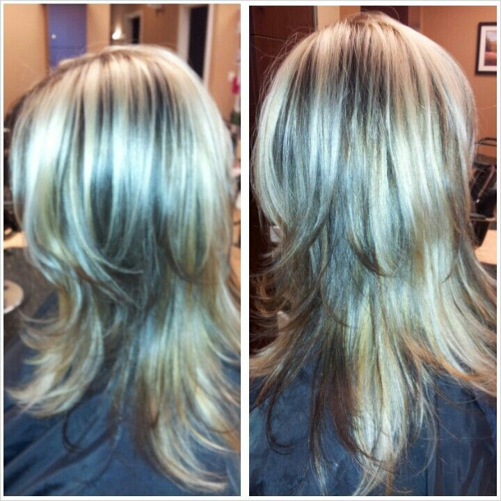 Light Blonde Highlights With Dark Brown Peek A Boo Chunks