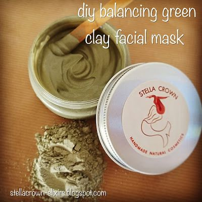 Stella Crown: diy balancing green clay facial mask for acne-prone & oily skin types #diy #diycosmetics #diyideas #clays #cosmeticclays #greenclay #greenclaymask #facecare #facialmasks #balancing #detox #skincare #oilyskin #acneproneskin #acnetreatment #naturalbeauty #chemicalfree #naturalcosmetics #crueltyfree #beautyelixirs #recipeshare #recipeideas #beautyblog #recipeblog #stella_crown