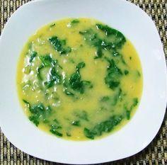 Receita de Sopa de grão-de bico com espinafre.