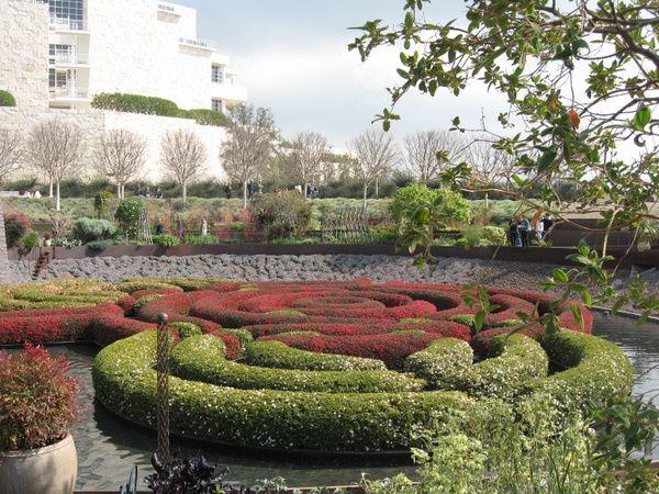 Getty Museum gardens in Los Angeles.