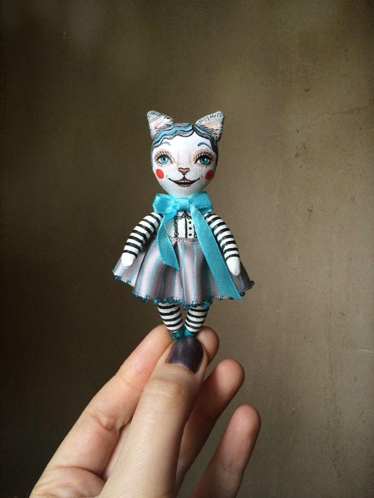 Чеширская кошка. Авторская кукла. Ручная работа.