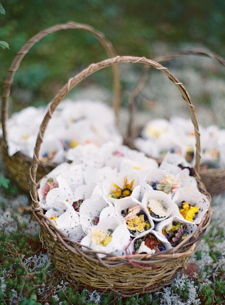 Potpourri for the petal toss | See the wedding on SMP -- http://www.StyleMePretty.com/2013/05/23/vermont-wedding-from-jose-villa/ Photography - Jose Villa