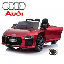 Limited Edition 12v Licensed Audi r8 Spyder sit in car in deep metallic red colour