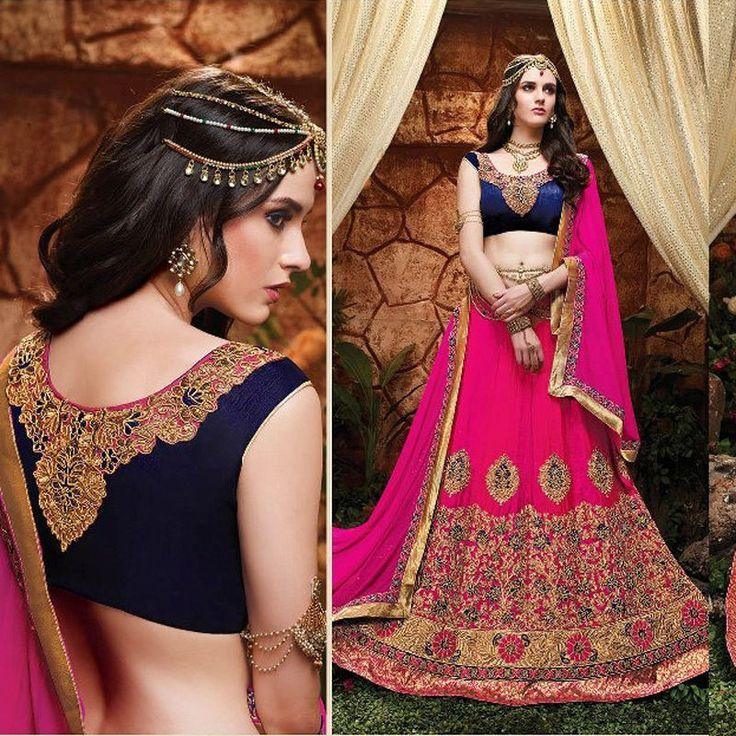 Ethnic Indian Bollywood Lehenga Skirt Dress Designer Heavy Ghagra Choli Dupatta #Handmade #LehengaCholiDupatta