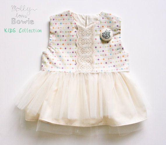 Polka Dot Baby & Toddler Dress Tulle Skirt by MollylovesBowieKIDS, Kids Clothing