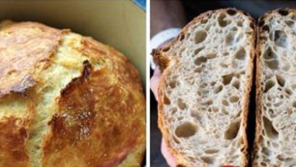 Pečenie domáceho chleba si väčšina z nás spája s prácnym miešaním. Na túto časť ale u tohto receptu môžete s radosťou zabudnúť! Tento recept sa vám určite zapáči. Je chutný a cesto nemusíte miešať. potrebujeme: – 3 poháre múky (1 pohár = 250 ml) – 1 lyžička práškového droždia –