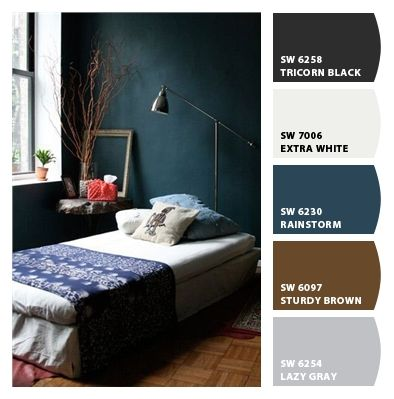 @ Karol Hollis-Paint colors from Chip It! by Sherwin-Williams. Rainstorm. Mmm.