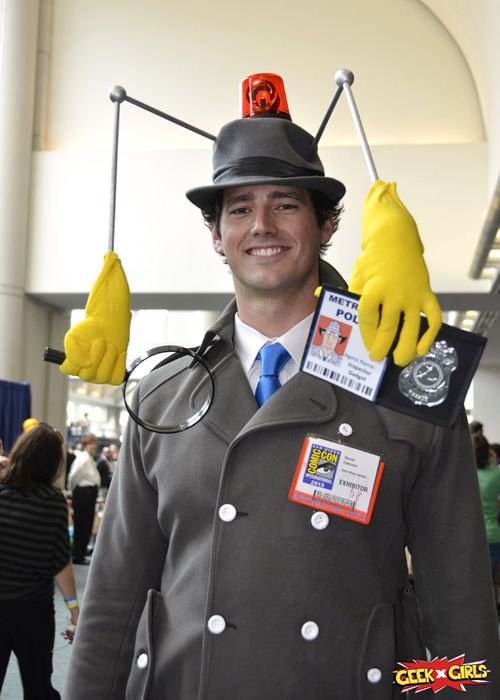 So as I'm scrolling through pinterest, i see this Inspector Gadget. Its my cute cousin, Steven! Geek Girls San Diego Comic Con 2013