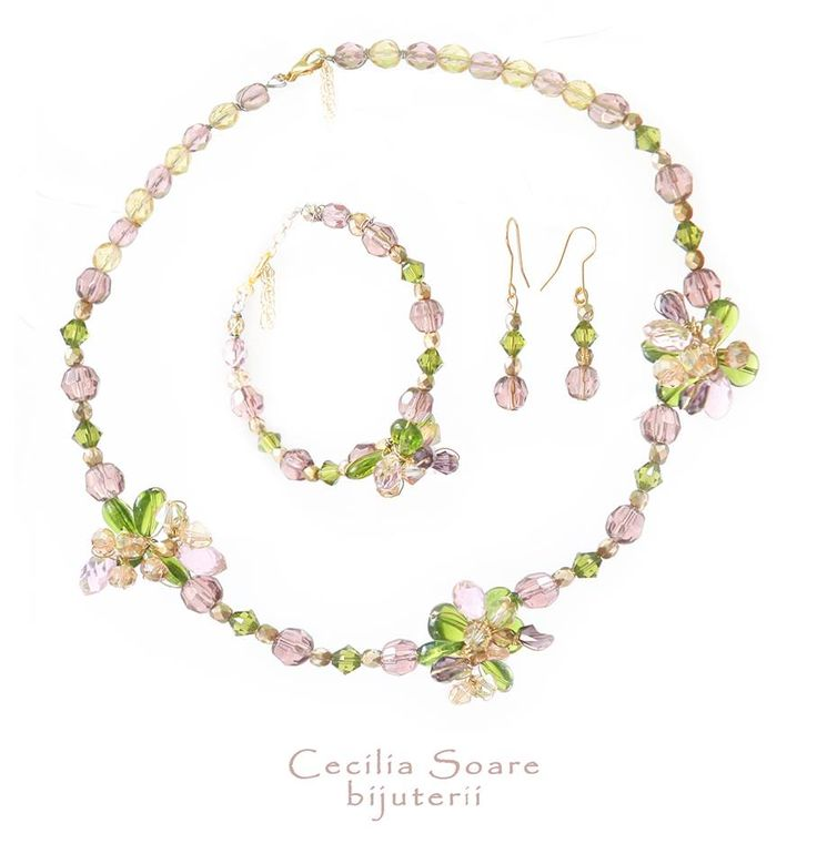 spring colours jewelry set