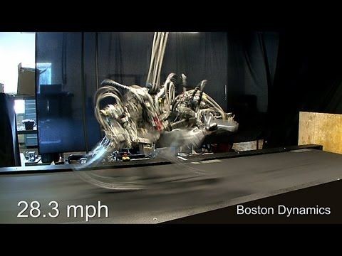 Boston Dynamics's sprinting robot, Cheetah, has now broken the land-speed record for humans, clocking speeds of 29.3 miles per hour. In comparison, Usain Bolt can go 27.79mph.