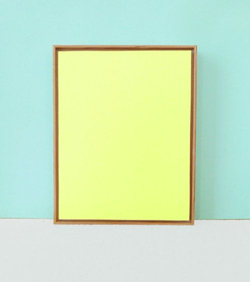 Tropical blue, Day-Glo Yellow and Grey: Monochrome Paintings, Paintings Art, Yellow Monochrome, Color Schemes, Color Combos, Bauhaus Yellow, Etsy Artists, Art Artists, Neon Yellow