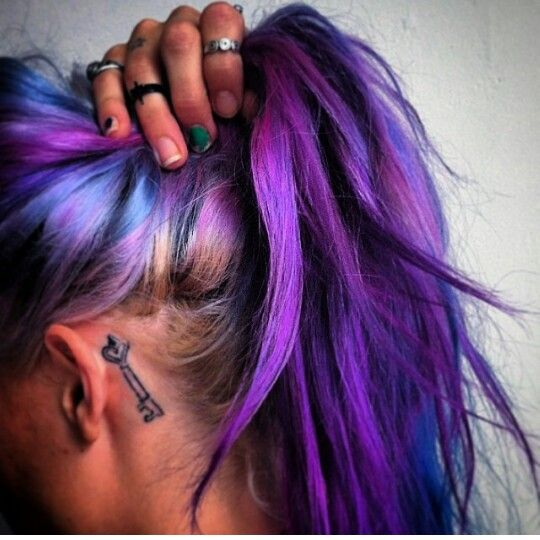 Hair,colors,tattoo,life,violet