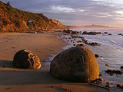 Moeraki boulders at Koekohe Beach. Could have stayed there all day.