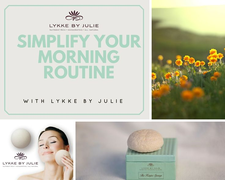 Are you constantly in a hurry especially in the morning - why not simplify your routines?