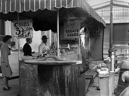 Fisherman's Wharf, San Francisco (late 1940s) Taken by Gene Gallagher, via David Gallagher / flickr