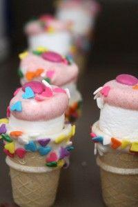 "Easy ""Ice Cream"" marshmallow treats"