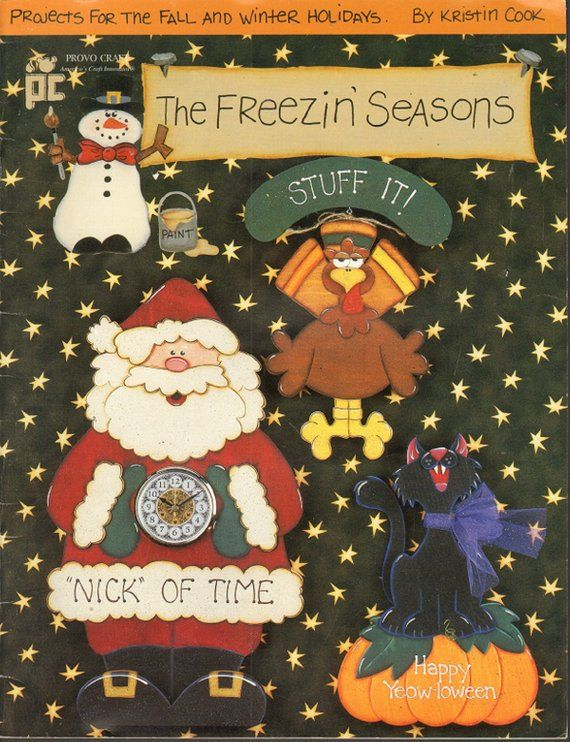 The Freezin Seasons By Kristin Cook Tole Decorative Painting Book