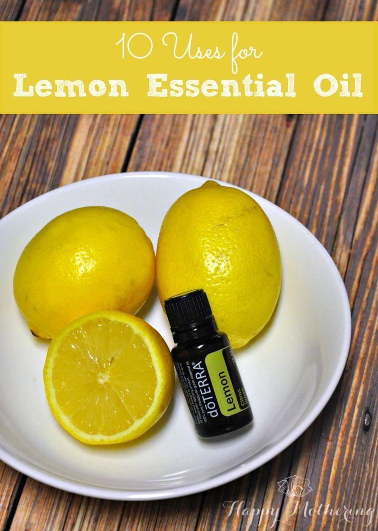 Lemon essential oils has so many uses! Check out these 10 uses for lemon essential oil on Happy Mothering.