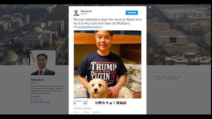 Dem lawmaker jabs at Trump in 'Trump, Putin 2016' campaign t-shirt | TheHill .  Congressman Ted Lieu is trumping Trump on Twitter.