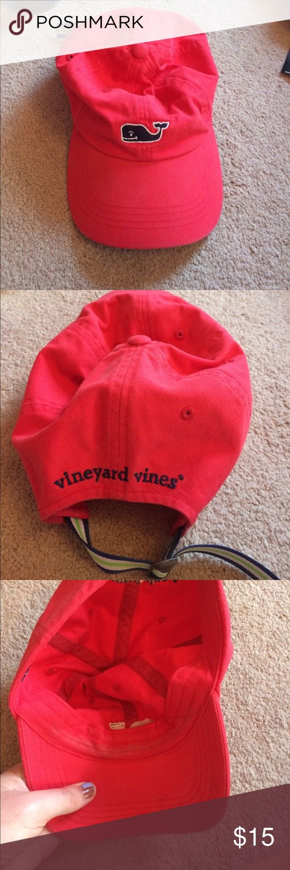 Red Vineyard Vines Hat Great condition; slightly worn on inside but not bad at all! Vineyard Vines Other