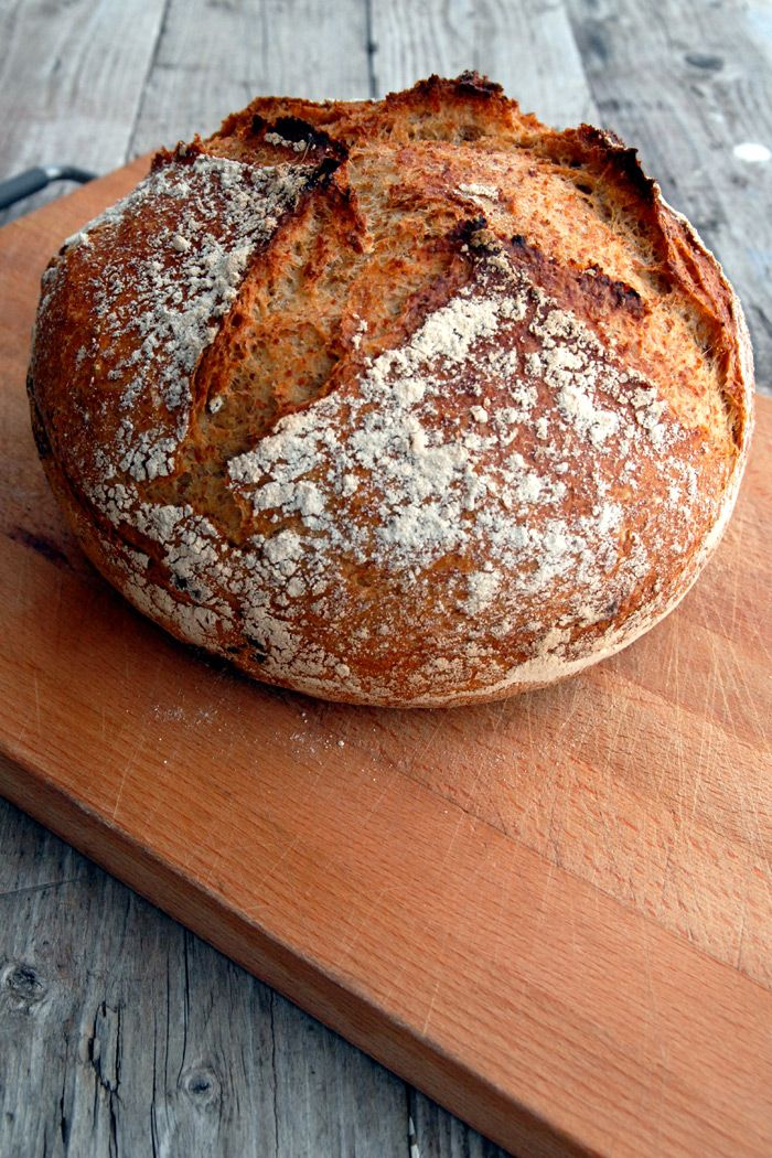 Sunn latmannsbakst – Eltefritt grovbrød med spelt. Fantastisk grovbrød med minimal innsats og lite gjær.