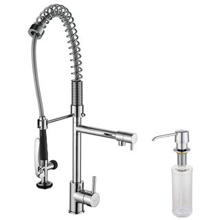 kraus commercial style single handle kitchen faucet with