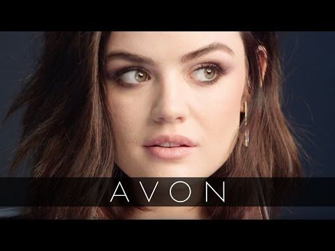 Go behind the scenes with Lucy Hale mark. By Avon Brand Ambassador and learn how to get her purple smokey eye Avon Brochure cover look! #AvonRep avon4.me/2pHYaps