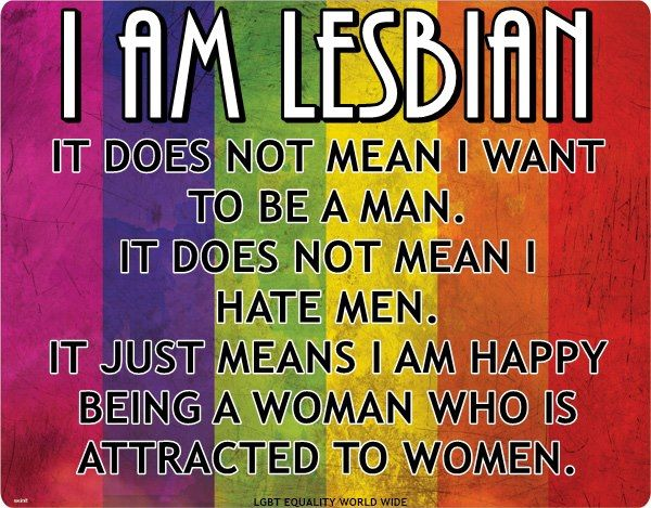 Lesbian.                                                                                                                                                      More
