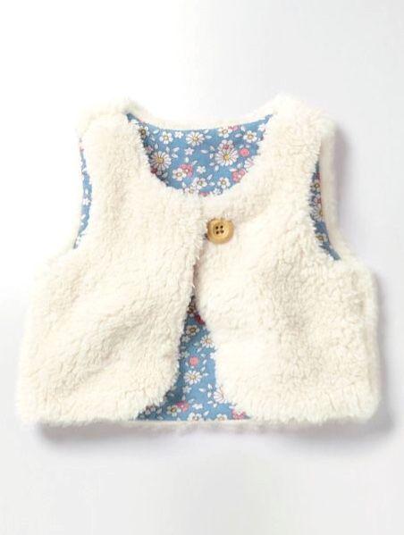 253a582b2 Pretty Reversible Fleecy Vest | Boden | babers | Baby Dress, Baby ...