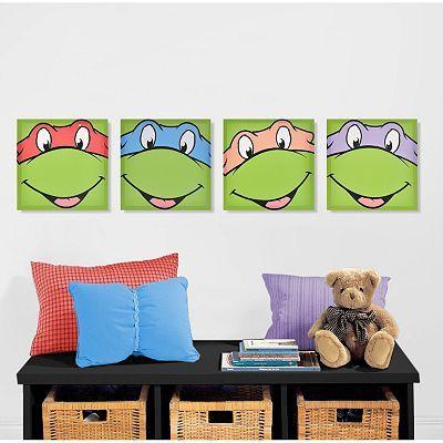 Teenage Mutant Ninja Turtles 4-pk. Wall Art