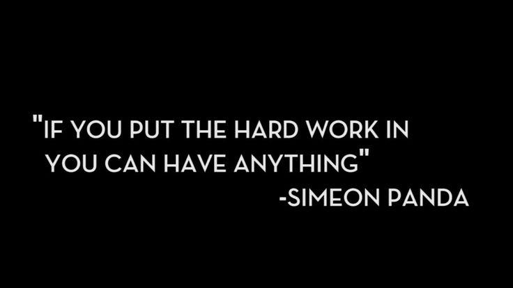 Words from Simeon Panda