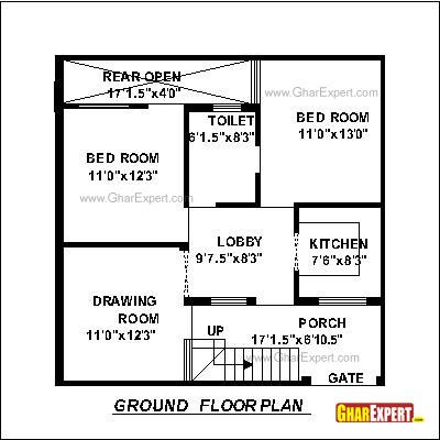 House plan for 30 feet by 30 feet plot plot size 100 for Find plot plan online