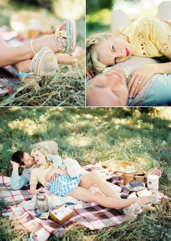 leaning towards a picnic engagement shoot... I mean how cute is this!