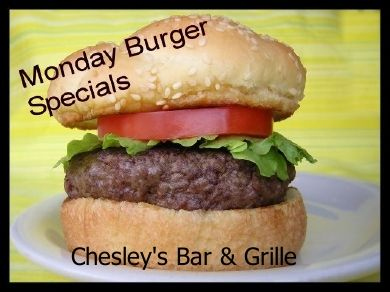 Chesley's famous burgers