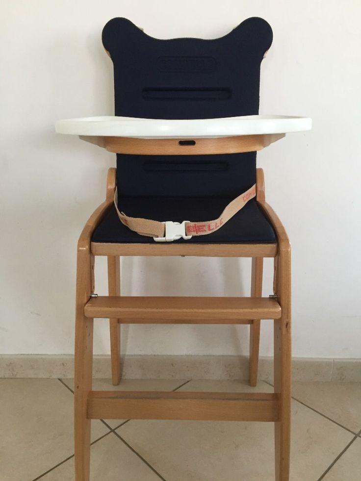 Les 25 meilleures id es de la cat gorie chaise haute bois for Chaise haute combelle