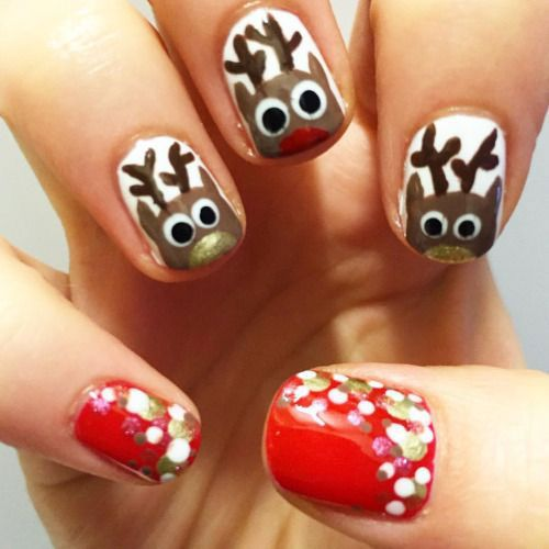 50 best reindeer nail art designs images on pinterest nail art reindeer nail art designs prinsesfo Choice Image