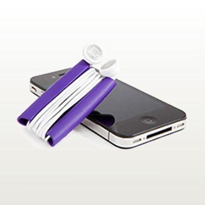 Quirky – Wrapster (organizador para fones de ouvido roxo) :: DESIGN anyware
