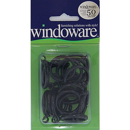 Windoware Black Cafe Rings 20 Pack